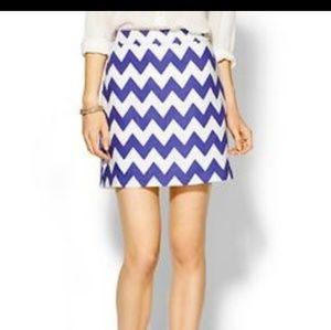 Kate Spade Robbie Chevron Skirt Size 2